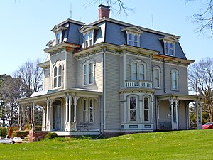 Amerika (miniseries) - The John Cattle, Jr.-Hughes Mansion in Seward, Nebraska served as the Bradford home in Milford.