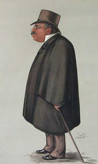 The Sporting Times - John Corlett, first editor of The Sporting Times, caricature in Vanity Fair, 1889