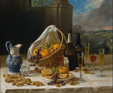 Luncheon Still Life by John F. Francis