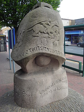 Edmonton, London - The statue of Gilpin's Bell at Fore Street