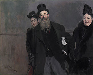 John Lewis Brown - John Lewis Brown with wife and daughter by Giovanni Boldini