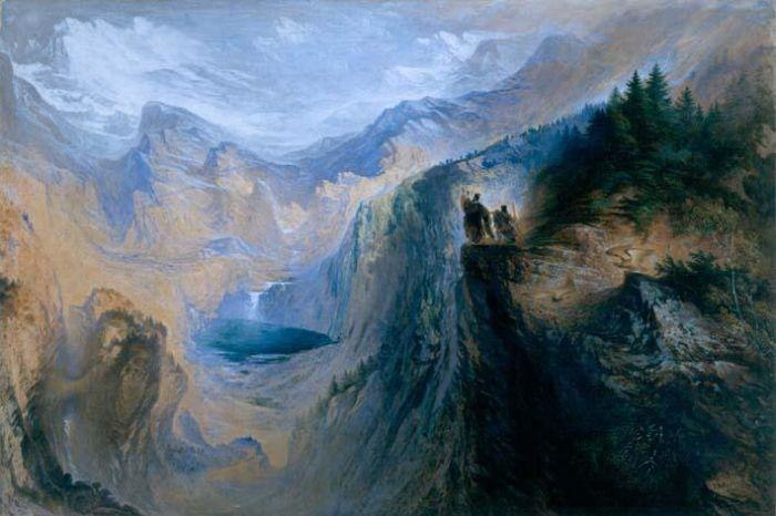 John Martin - Manfred on the Jungfrau (1837)