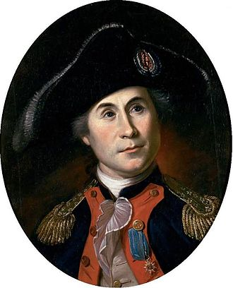 John Paul Jones - A 1781 painting of Jones by Charles Willson Peale
