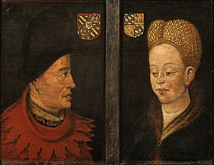 Portraits of John The Fearless and Margaret of Bavaria