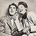 Johnny Coy and Hedda Hopper, 1946.jpg