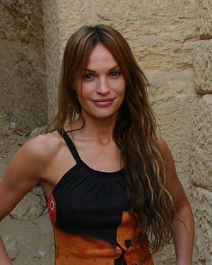 English: Jolene Blalock in Cairo