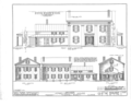 Jones-Menard House, Tremont, Tazewell County, IL HABS ILL,90-TREMO,1- (sheet 1 of 4).png