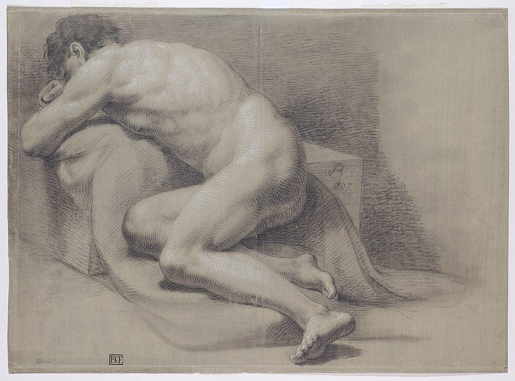 File Josef Bergler Pololezici Akt Spiciho Muze 1807 Kresba