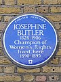 Josephine BUTLER 1828-1906 Champion of Women's Rights lived here 1890-1893.jpg
