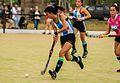 Jugadora de Argentino de San Carlos en un partido frente a Rowing.jpg