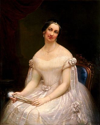 Francesco Anelli - Anelli's oil portrait of President John Tyler's second wife, Julia Gardiner Tyler