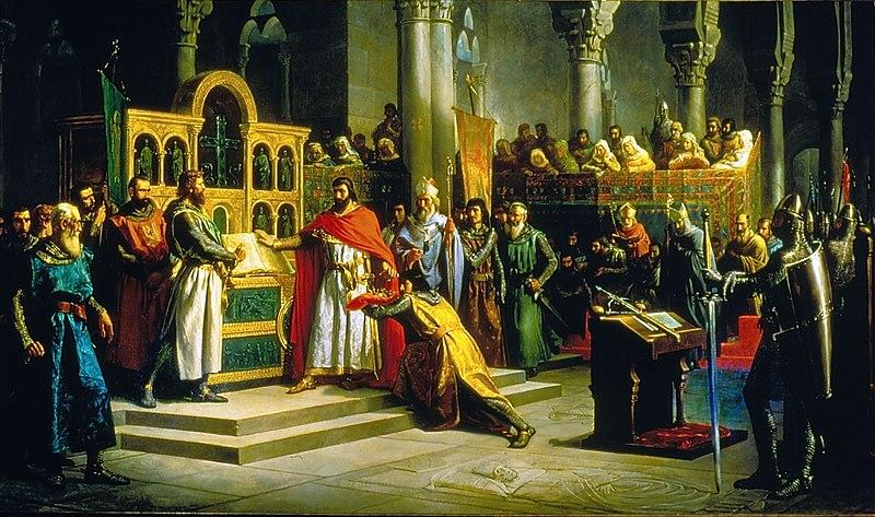 La Jura de Santa Gadea, de Marcos Hiráldez Acosta. 1864
