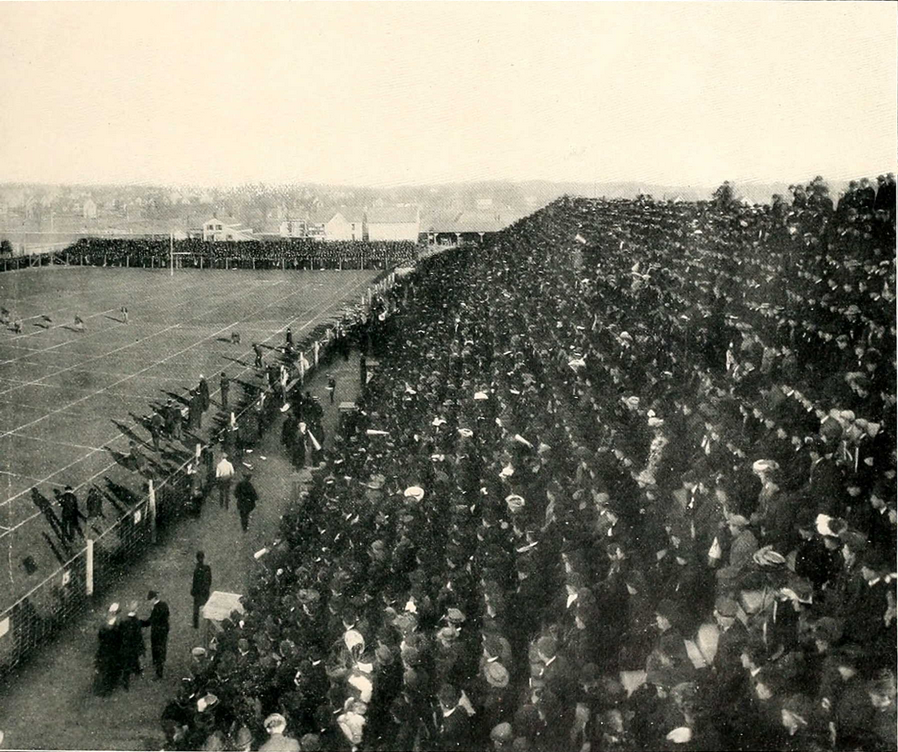 Just Before the Kick-off at the Chicago-Michigan Football Game 1904 part b