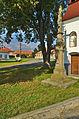 Kříž před zvonicí na návsi, Nové Sady, okres Vyškov.jpg