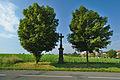 Kříž za obcí směrem na Lutín, Slatinice, okres Olomouc.jpg
