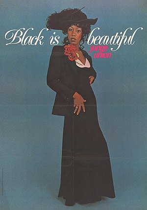 "Black is beautiful - A 1974 German ""Black is beautiful"" poster"