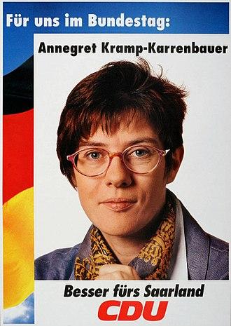 Annegret Kramp-Karrenbauer - Election poster for Kramp-Karrenbauer's 1994 candidacy in Saarland