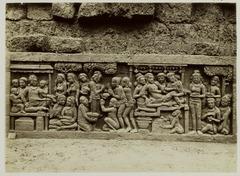 KITLV 27975 - Kassian Céphas - Relief of the hidden base of Borobudur - 1890-1891.tif