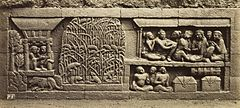 KITLV 40091 - Kassian Céphas - Relief of the hidden base of Borobudur - 1890-1891.jpg