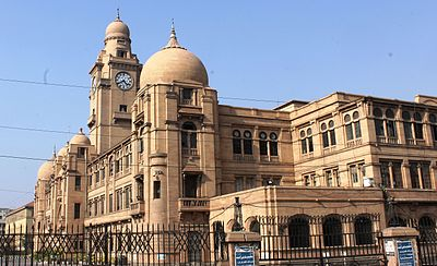 Karachi features several examples of colonial-era Indo-Saracenic architecture. KMC Headoffice day view.JPG