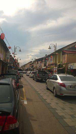 Chinatown, Kuala Terengganu - The narrow road of Kampung Cina