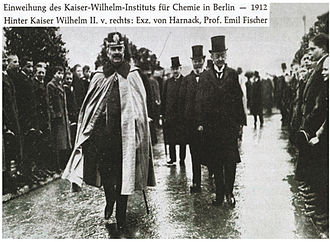 Firedamp whistle - Opening of the Kaiser Wilhelm Institute for Physical Chemistry and Electrochemistry with German Emperor Wilhelm II