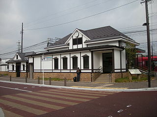 Kakamigahara-Shiyakusho-mae Station Railway station in Kakamigahara, Gifu Prefecture, Japan