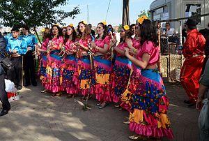 Kakava - Dancing Roma women by music during Kakava 2015 in Edirne.