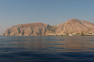Kamari village in Greece