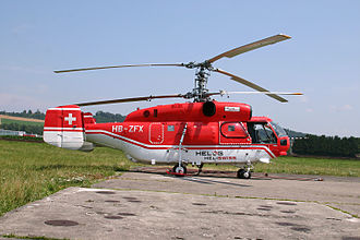 Heliswiss - The heavy helicopter Kamov 32A12 HB-ZFX is operated by Heliswiss International AG.