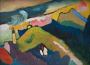 Murnau am Staffelsee - Wassily Kandinsky painting of Murnau am Staffelsee (1910)