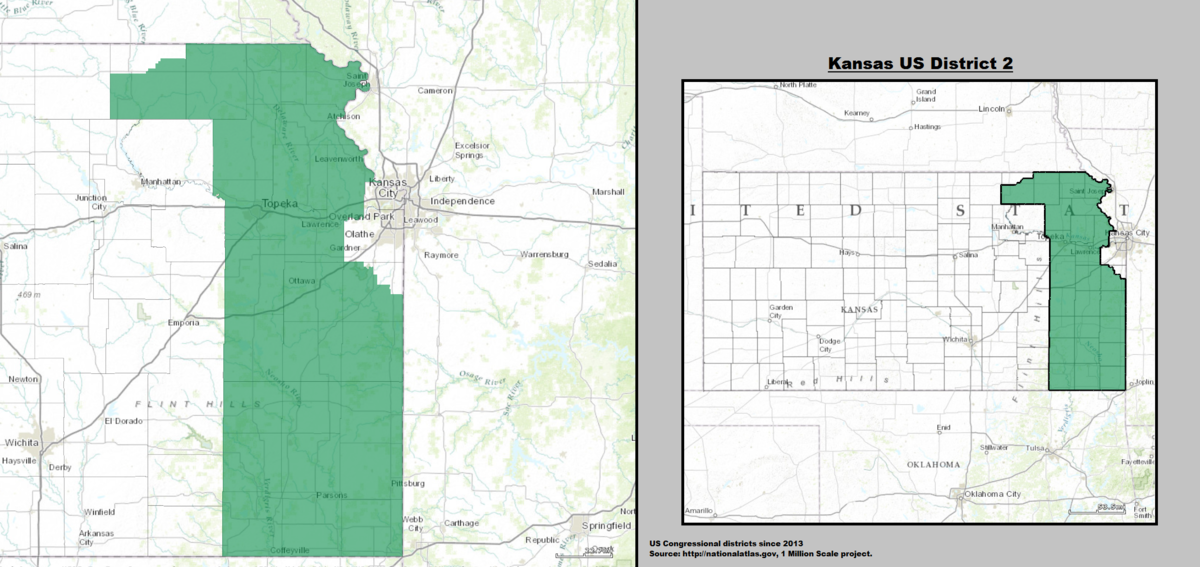 Kansass Nd Congressional District Wikipedia - Map of us senate districts in kansas