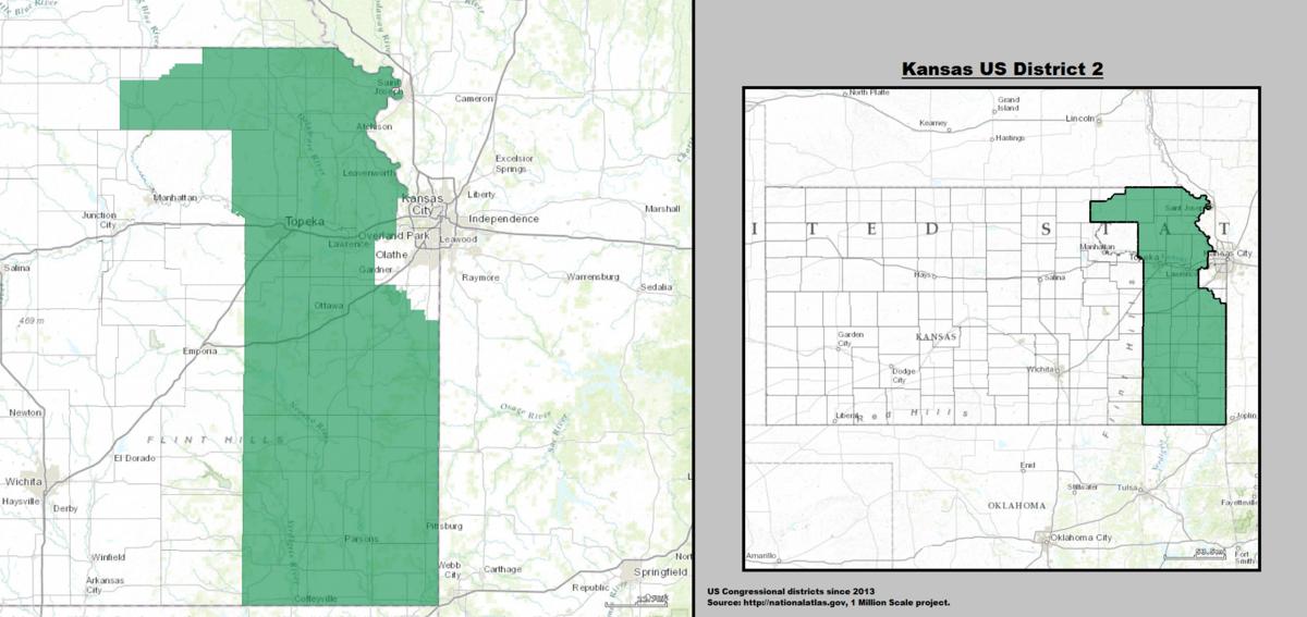 kansas house of representatives district map Kansas S 2nd Congressional District Wikipedia kansas house of representatives district map