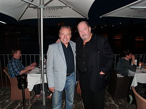 Karel Gott - Karel Gott with German composer Ralph Siegel in Prague, 2014