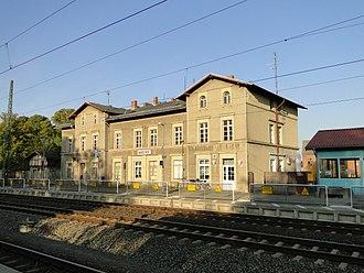 Karstädt station - Image: Karstädt Bahnhof 122