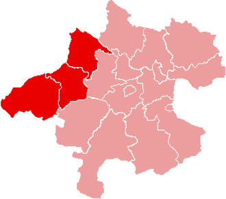Innviertel - Map of Innviertel in the state of Upper Austria