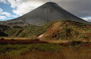 Karymsky (volcano) - Karymsky. Side view.