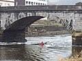 Kayak in tidal flow under Totnes Bridge - geograph.org.uk - 1150069.jpg