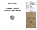 Kazimierz Bartoszewicz - Słownik prawdy i zdrowego rozsądku okładka WŹ.png