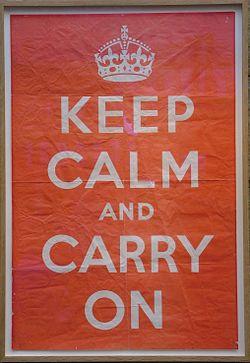 Keep Calm And Carry On - Original poster - Barter Books - 17-Oct-2011.jpg