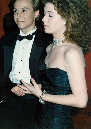 Katie Barberi - Keith Coogan and Katie Barberi at the 61st Academy Awards in 1989