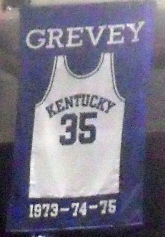 Kevin Grevey - A jersey honoring Grevey hangs in Rupp Arena