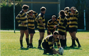 Kevin Swords - Kevin Swords (far left) in action for the Beacon Hill Rugby Club circa 1994