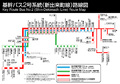 Key Route Bus Shin-Dekimachi Line Map.png