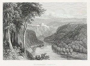 Cilgerran Castle - Image: Kilgarran castle on the river Teivy
