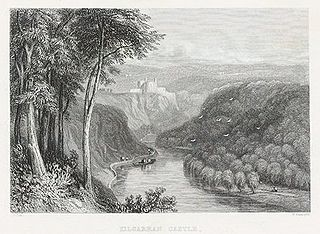 Kilgarran castle: on the river Teivy