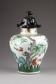Kinesisk urna dekorerad med växter - Hallwylska museet - 95657.tif