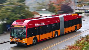 King County Metro - RapidRide bus running on the C Line in West Seattle