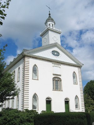 Endowment (Latter Day Saints) - Kirtland Temple, site of the Kirtland endowment in 1836 and 1837.
