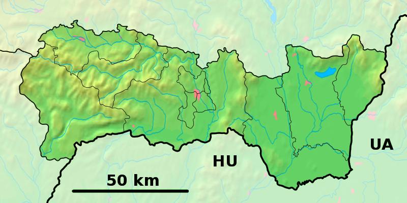 Poloha v rámci Košického kraja